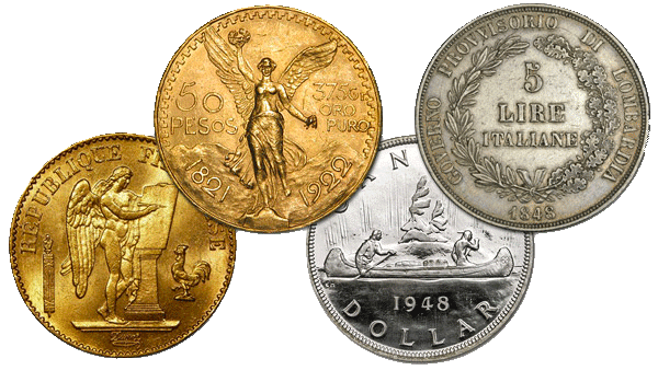 Foreign Gold & Silver Coins